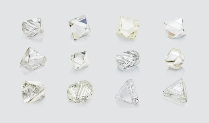 uncut diamond shapes