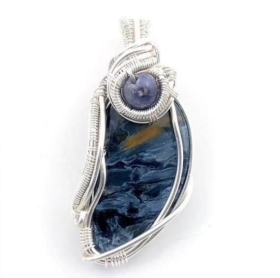Best Crystals for Focus Blue scapolite pendant
