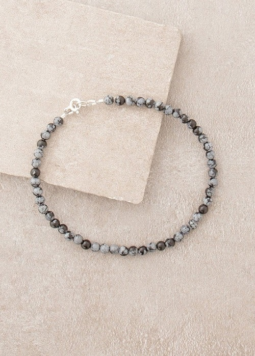 Best Crystals for Root Chakra Obsidian anklet