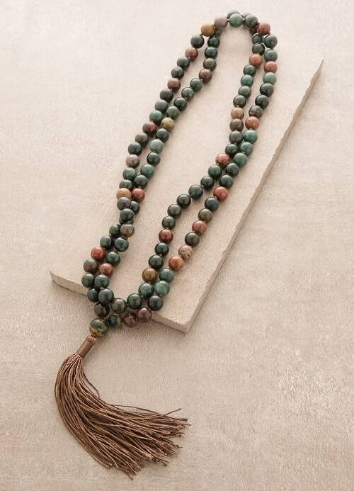 Best Crystals for Root Chakra bloodstone mala