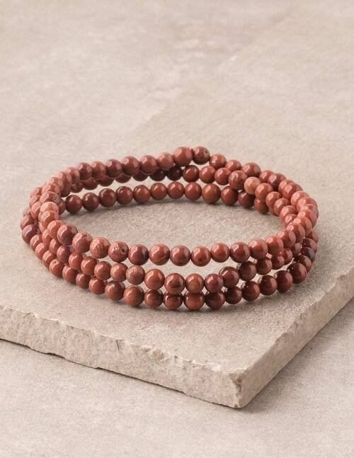 Best Crystals for Root Chakra red jasper bracelet