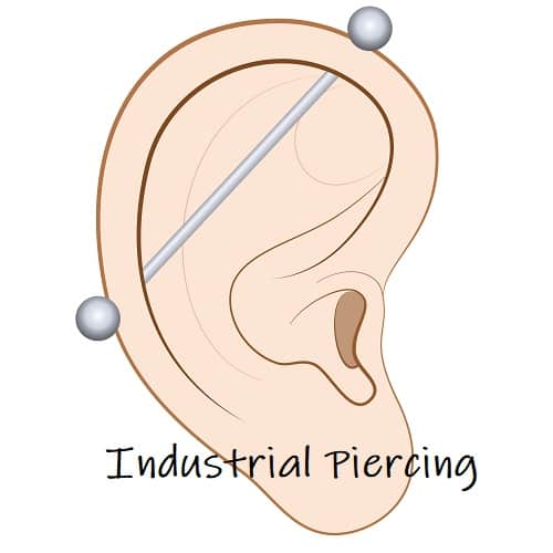 helix Piercing ears industrial