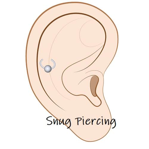 helix Piercing ears snug anti-helix