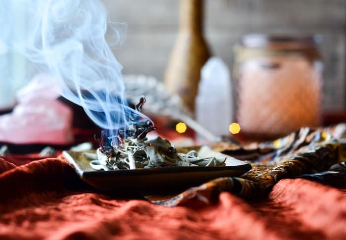 how to cleanse crystals sage