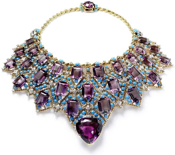 February Birthstone Duchess of Winsor's amethyst & turquoise necklace
