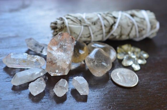 Herkimer diamond crystals