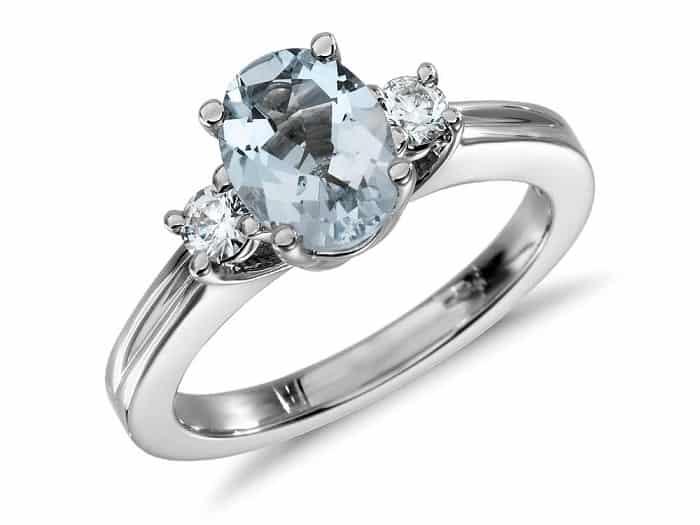 List Popular Gemstones Aquamarine ring diamond