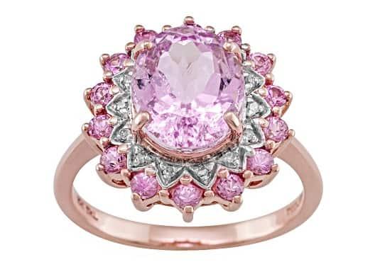 List Popular Gemstones Kunzite rose gold ring