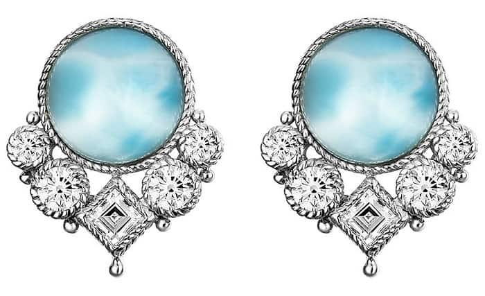 List Popular Gemstones Sterling Silver Larimar Earrings