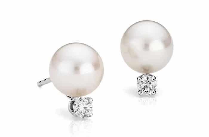 List Popular Gemstones Pearl stud earrings