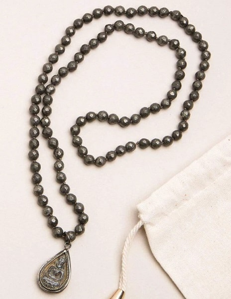 List Popular Gemstones Pyrite necklace