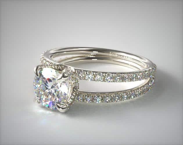 List Popular Gemstones diamond ring pave