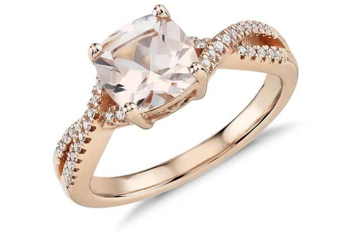 List Popular Gemstones morganite ring