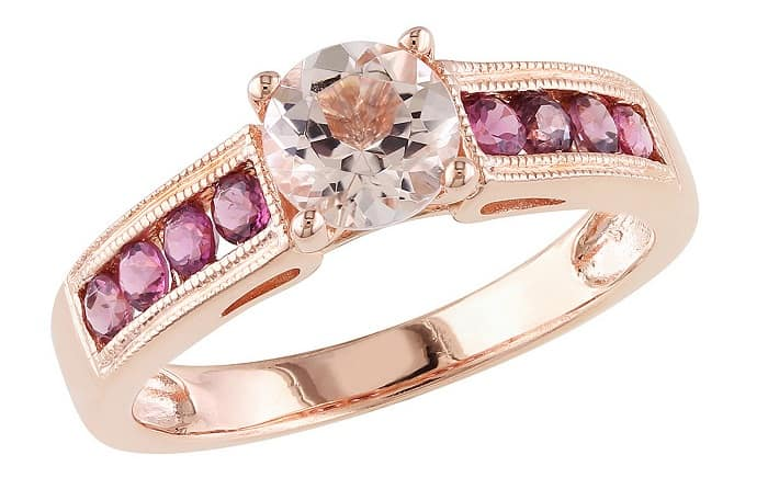 Pink Gemstones List Pink tourmaline ring gold plated