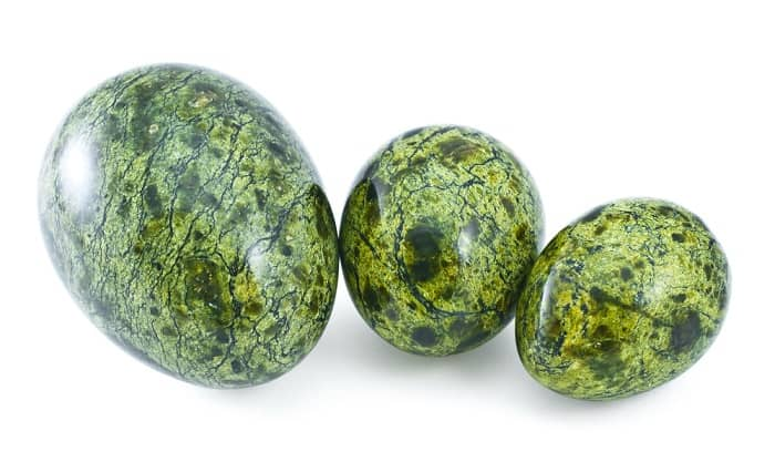 january birthstone polished Serpentine stones