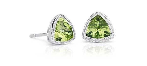 September Birthstone peridot earrings