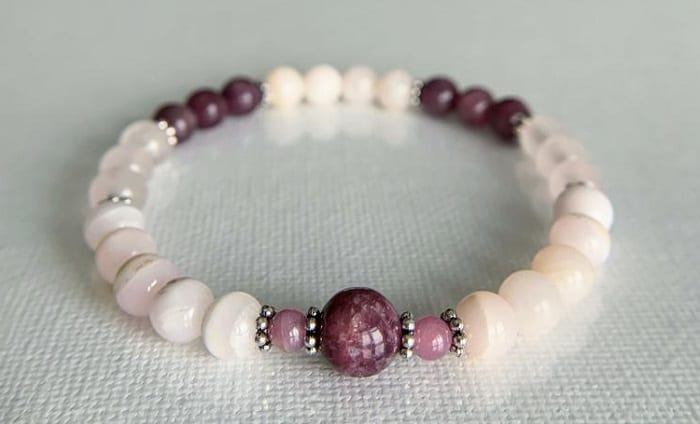 Crystals for grief calcite bracelet