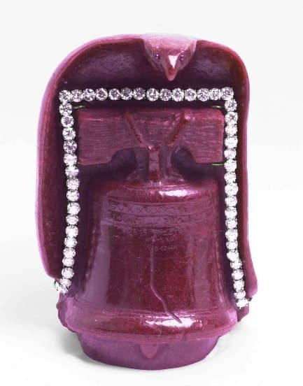 July Birthstone ruby Liberty Bell