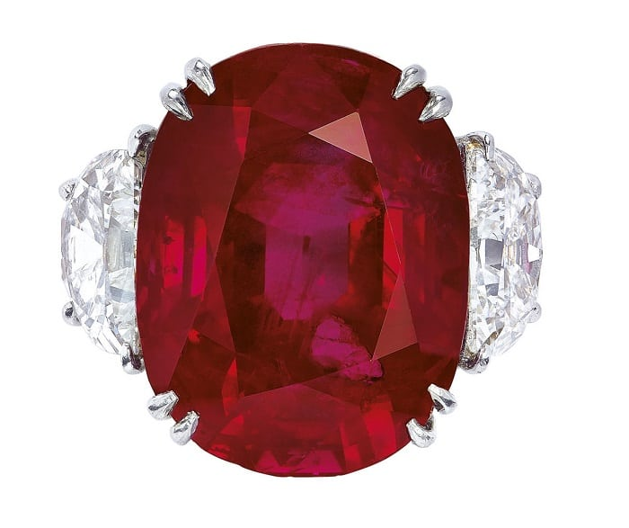 July Birthstone ruby sun rise