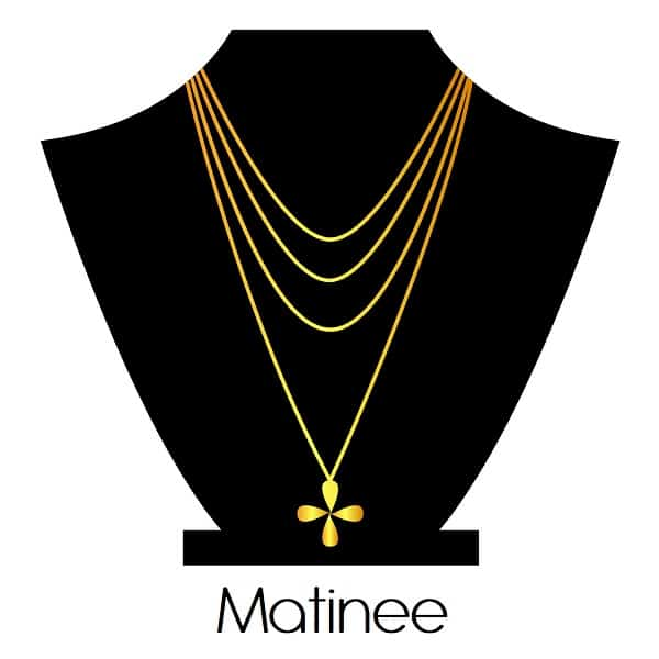 Necklace Length types Matinee