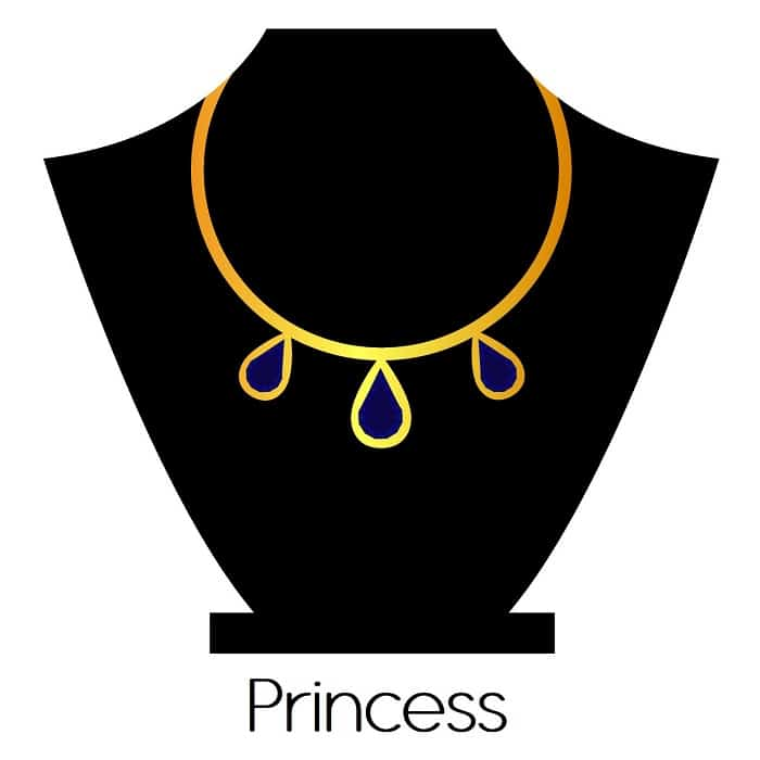 Necklace Length types Princess