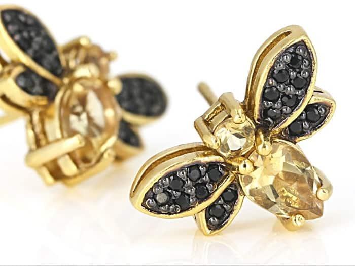 November birthstones citrine earrings