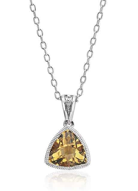 November birthstones citrine pendant