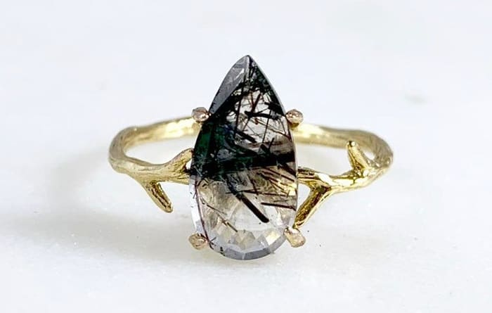 Rutilated quartz meaning heart ring