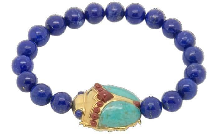 Types of Bracelets scarab Turquoise & Lapis Lazuli