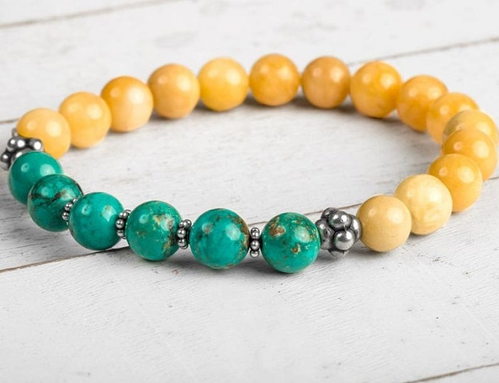 Yellow Gemstones jade bracelet