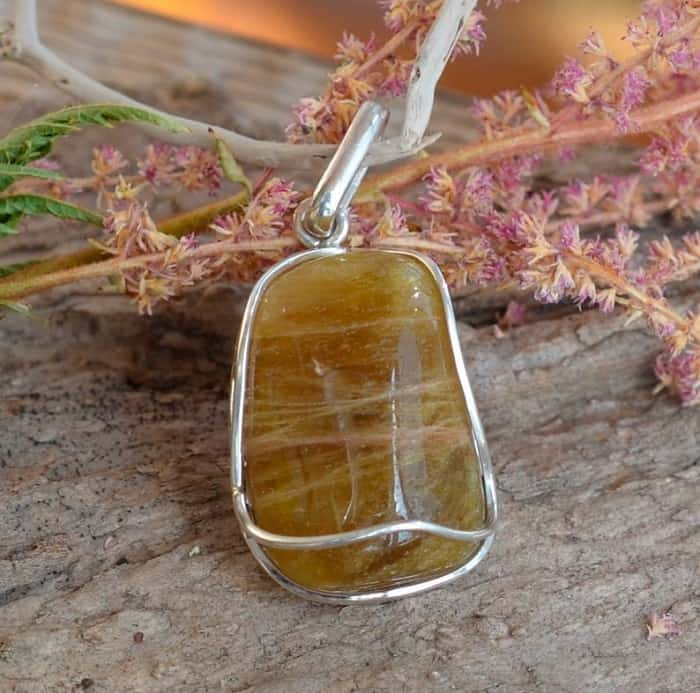 Yellow Gemstones yellow Tourmaline pendant