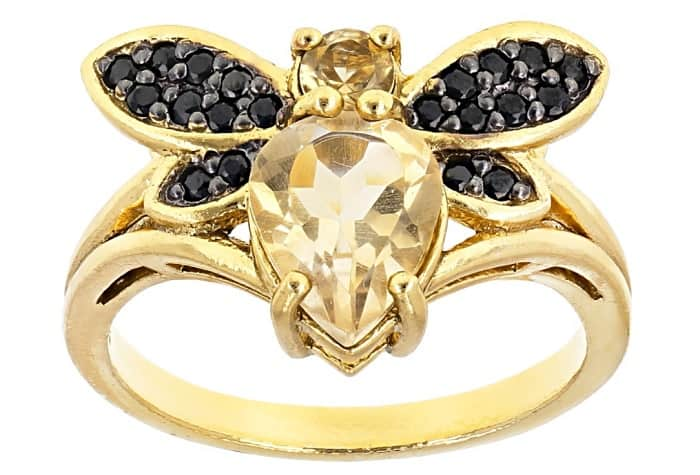 Yellow Gemstones yellow citrine ring