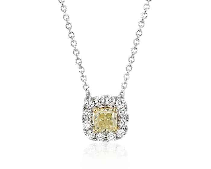 Yellow Gemstones yellow diamond pendant