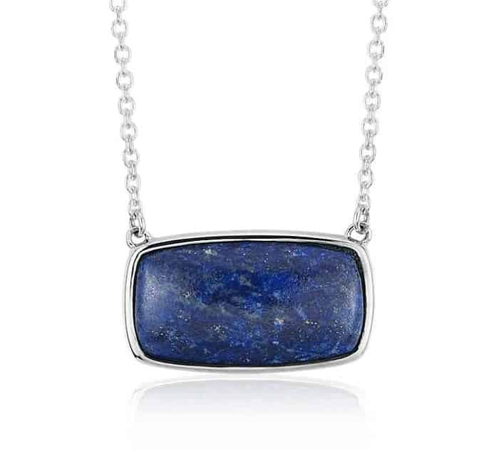 september birthstone lapis lazuli pendant necklace