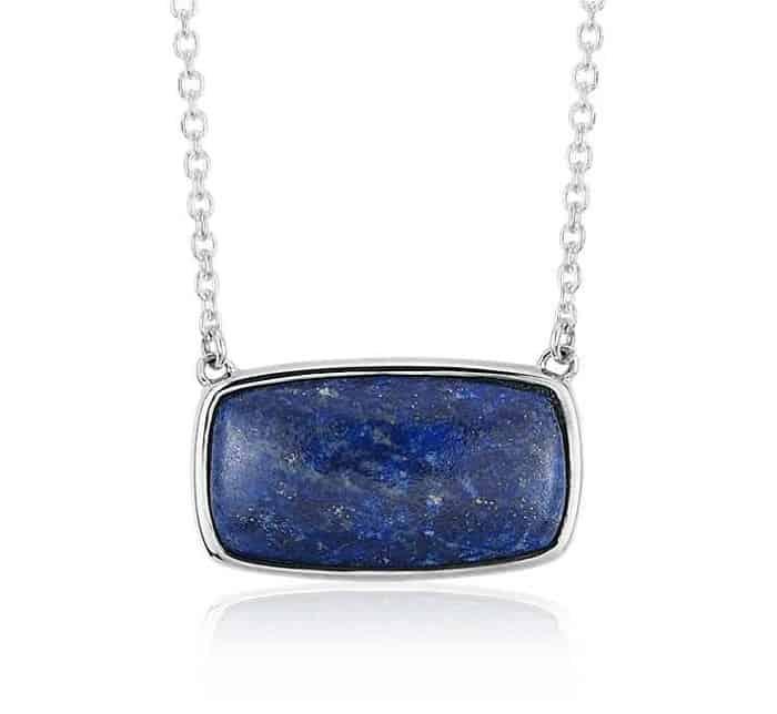 september birthstone lapis lazuli pendant necklace