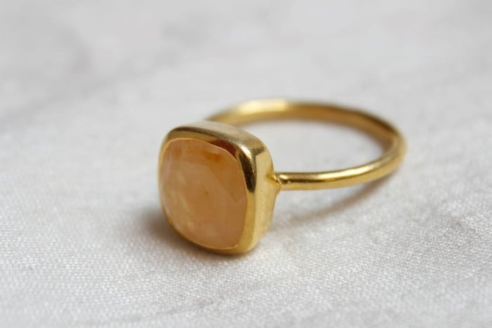 Best Sacral Chakra Stones Orange moonstone ring