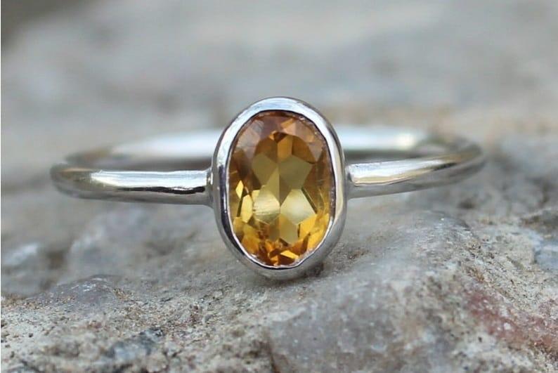 Best Sacral Chakra Stones citrine ring