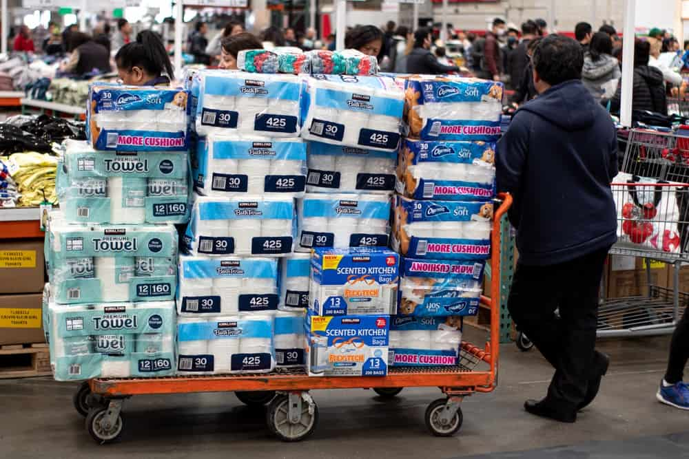 panic buying and stockpiling toilet paper