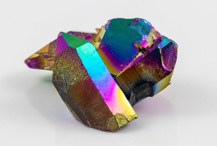 Aura quartz healing properties titanium