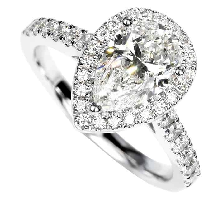 cheap engagement rings walmart Pear Cut