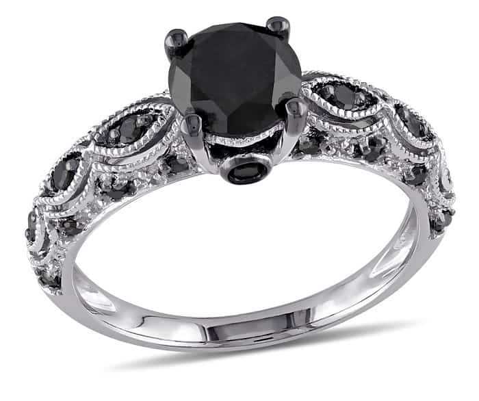 cheap engagement rings walmart black diamond