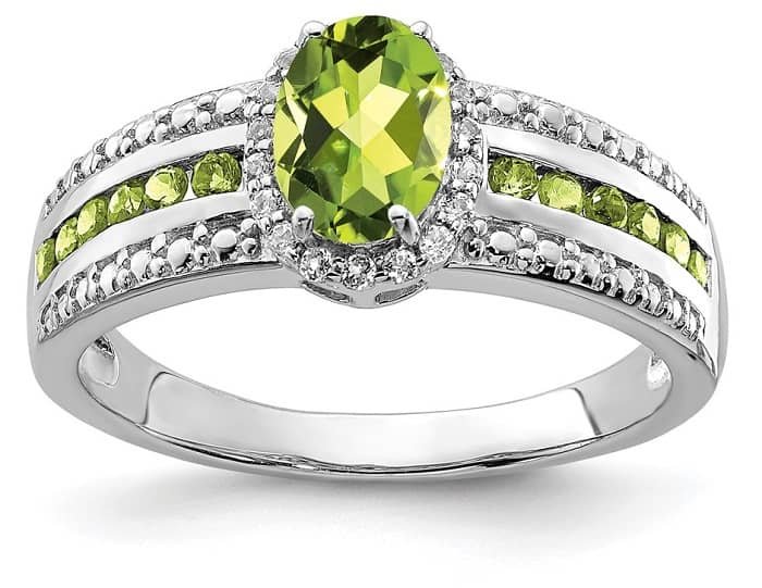 cheap engagement rings walmart peridot and white topaz