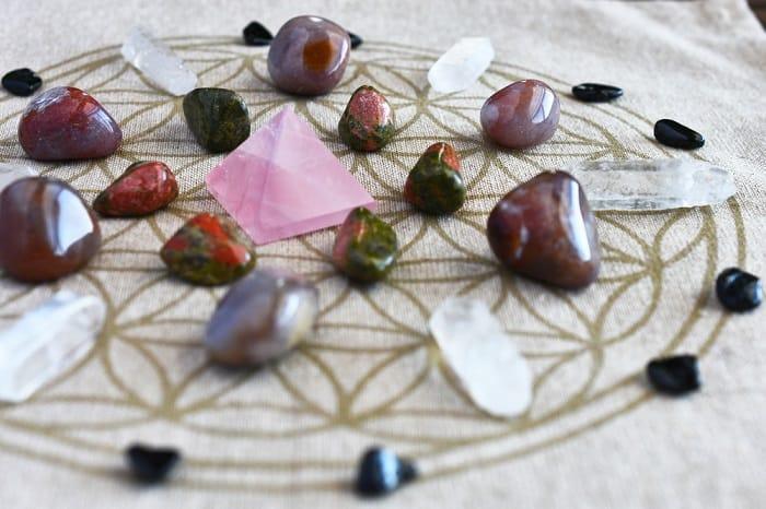 crystal grid stones path