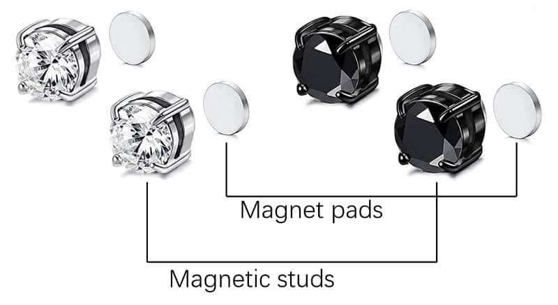 best magnetic earrings pads